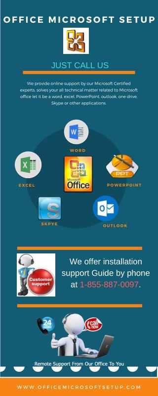 Office Microsoft Setup Installations | Call 1-855-887-0097