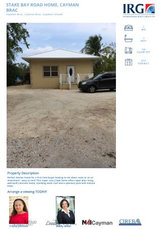 STAKE BAY ROAD HOME on Cayman Brac by IRG Cayman.