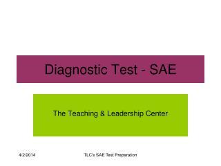 Diagnostic Test - SAE
