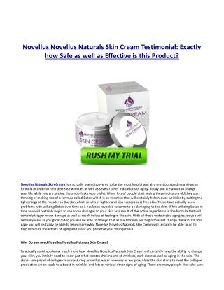 Exactly how Does Novellus Naturals Skin Lotion Job?