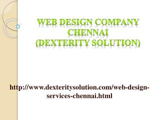 Web Design Company Chennai (Dexterity solution)