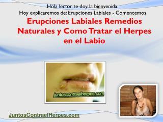 Erupciones labiales remedios naturales como tratar el herpes en el labio