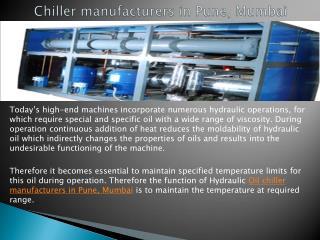 Best Chiller manufacturers in Pune, Mumbai