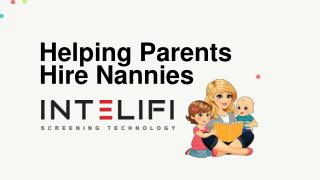 Helping Parents Hire Nannies