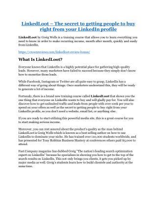 LinkedLoot review-$26,800 bonus & discount