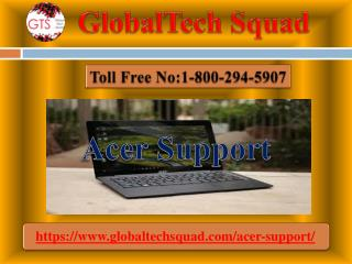 Acer Laptop Support | Toll 1-800-294-5907