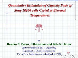 Quantitative Estimation of Capacity Fade of Sony 18650 cells Cycled at Elevated Temperatures