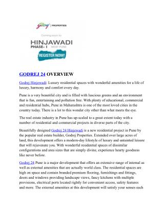 Godrej 24 Hinjewadi | Price | Reviews | Pune