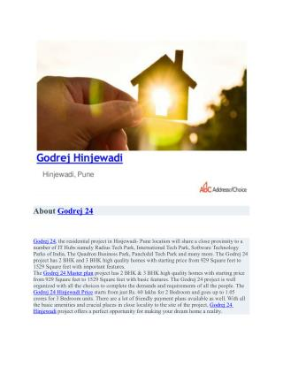 Godrej 24 pre launch properties in Hinjewadi, Pune