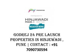 Pre launch properties in Hinjewadi by Godrej 24