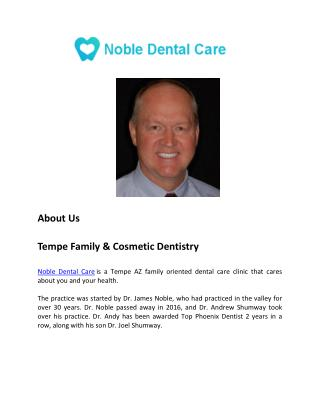 Noble Dental Care - About Us