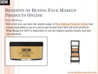 Benefits of Buying Face Makeup Products Online