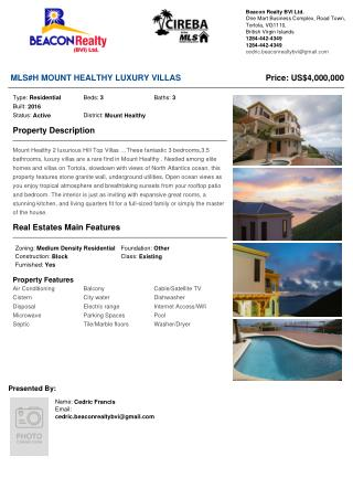 Mount Healthy 2 luxurious Hill Top Villas for sale available now!