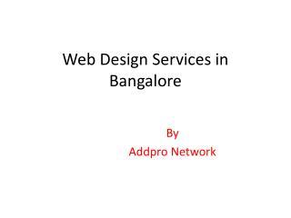 Web Design Services in Bangalore
