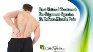 Best Natural Treatment For Ligament Sprains To Relieve Muscle Pain