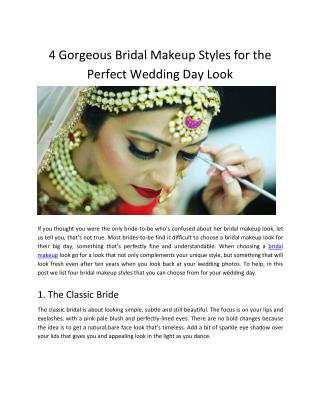 Bridal Makeup Styles for the Perfect Wedding Day