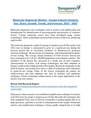 Molecular Diagnostic Market Research Report by Geographical Analysis and Forecast to 2023
