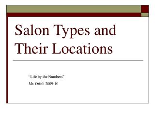 Salon Types and Their Locations