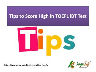 Tips to score high in toefl ibt test
