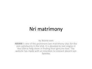 NRi marriage bureau