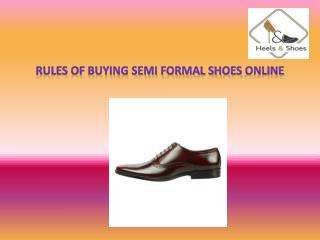 Buy Semi Formal Shoes Online