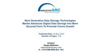 Next Generation Data Storage Technologies Market
