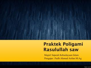 Istri-istri Rasulullah saw : Dari Khadijah hingga Raihanah
