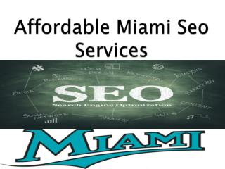 Affordable Miami Seo Services