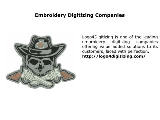 Embroidery Digitizing Companies