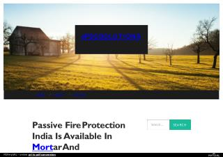 Best Passive Fire Protection in India