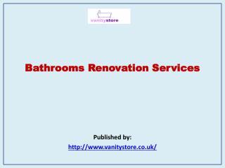 Bathrooms Renovation Services