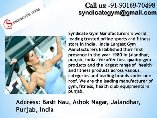 Gym equipments dealers in Delhi