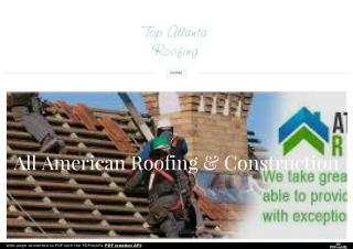 Atlanta Roofers And Some Of Their Noteworthy Help