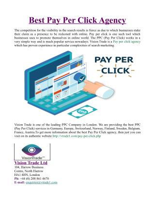 Best Pay Per Click Agency