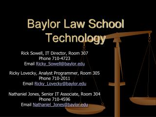 Baylor Law School Technology