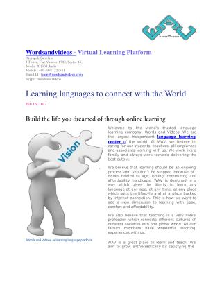 Online Language Learning Center