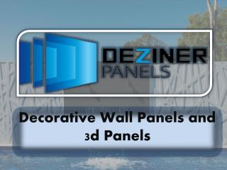 Decorative Wall Panels and 3d Panels