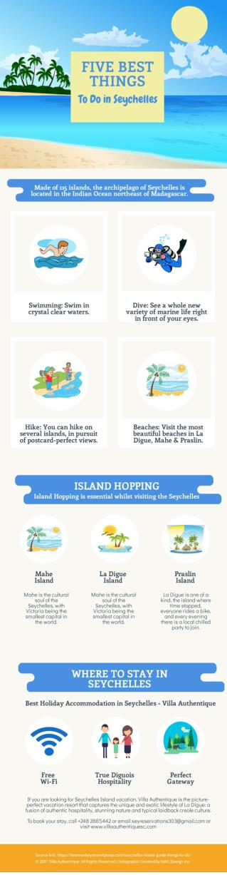 Infographic: 5 Best Things To Do in Seychelles. For more info