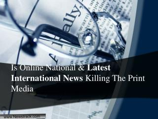 World Breaking News and Latest International News Headlines - Newstrack