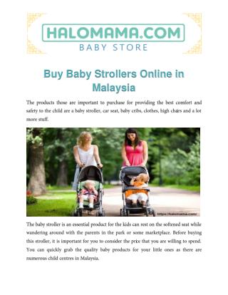 Buy Baby Strollers Online in Malaysia