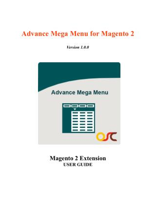 Advance Mega Menu Magento Extension