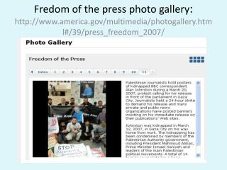 ONLINE RESSOURCE ON FREEDOM OF THE PRESS