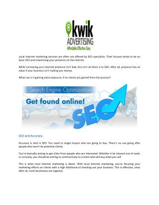 What Do You Gain from Seeking Local Internet Marketing Services?