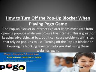 How to Turn Off the Pop‐Up Blocker When Playing Pogo Game