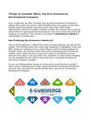 eCommerce Website Development Company Online
