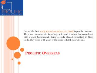 Prolific Overseas - study abroad consultants in greater noida