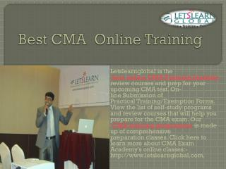Best CMA Online Training