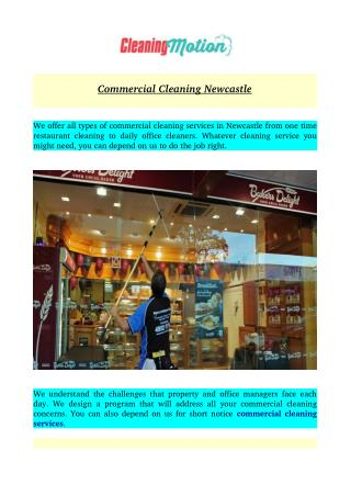 Commercial Cleaning Newcastle