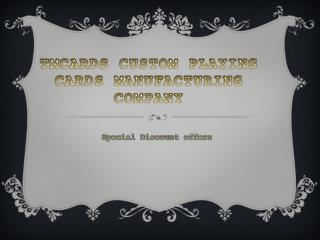 TMCARDS Custom Playing Card store Discount offers