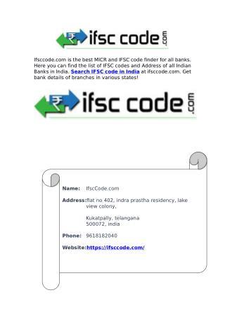 MICR Code Finder India